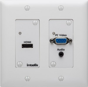 Intelix ASW-WP Auto-Switching Wallplate with HDBaseT Output